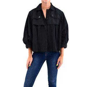 BCBGMaxAzria Black Cropped Ruffled Jacket #Q20